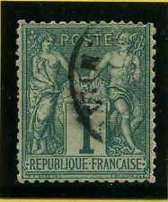 """FRANCE  N°61 """"SAGE 1c VERT"""", OBLITERE A VOIR"""
