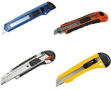 Premium Cuttermesser 6 Stück 18mm Alu Druckguss mit gummiertem Griff Profimesser
