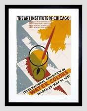 Color de agua internacional de anuncios Art Institute de Chicago enmarcado impresión B12X10511