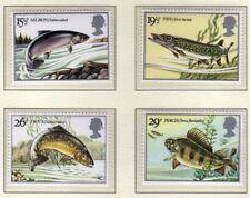 1983 GB BRITISH fiume pesci SG 1207-1210 Gomma integra, non linguellato Nuovo di zecca