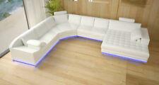 U Form Sofa Couch Polster Garnitur Wohnlandschaft Design Ecksofa Leder Neu A1120