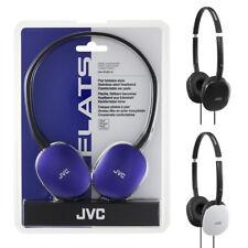 JVC HA-S160 Auriculares con banda móvil tablet pisos Ligero Negro Blanco Azul