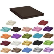 Betttücher 100 x 170 cm ohne Gummizug 100% Baumwolle Bettlaken viele Farben