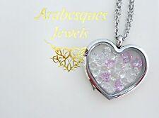 ARABESQUES CHARM POTS October/Pink Tourmaline Birthstone memory/floating pendant