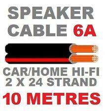 SPEAKER CABLE 10M RED/BLACK 6A AUTO CAR AUDIO HI-FI SPEAKER WIRE  10 METRES
