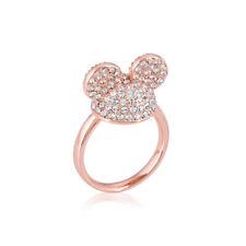 Disney Couture Reino Mickey Mouse 90 Años Rg-Plated Cristal Gorro Orejas Anillo