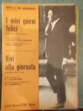 """SPARTITO WESS E THE AIREDALES """"I MIEI GIORNI FELICI"""" """"VIVI ALLA GIORNATA"""""""