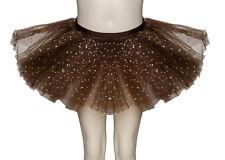 Marron Chocolat Paillettes Scintillantes Dance Ballet JUPE TUTU FILLES & femmes
