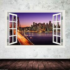 Full Colour New York City Sunset Wall Sticker Decal Transfert Imprimé Graphique WSD13