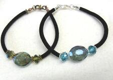 Glass beads, velvet bracelet - choice length