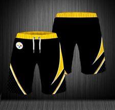 Pittsburgh Steelers Summer Beach Shorts Men's 3D Print Sports Shorts Swim Trunks