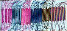 Thai  Cotton Wide Friendship  Bracelet Band  !!   Choice Of  6  Colours - New !!