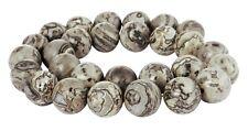 😏 Marmor Kugeln in 8, 10, 12 und 14 mm Edelstein Perlen Strang marble beads 😉