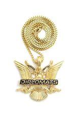 """Hip Hop Diplomats Bird Pendant 24"""" Box & Cuban & Rope Chain Hip Hop Necklace"""