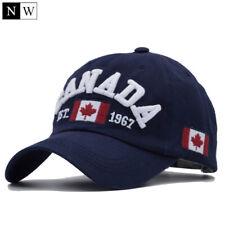CANADA Baseball Cap Snapback Hat ADJUSTABLE For Men Women 100% COTTON
