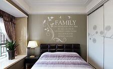 Mano Tallado Familia como ramas en un árbol Sala Deco arte de pared calcomanía del Reino Unido rui147