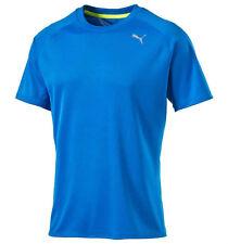 Men's New Puma Running Top, T-Shirt - Gym Fitness Jogging Training - Blue