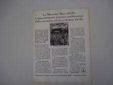advertising Pubblicità 1967 MERCEDES BENZ 250 SL ROADSTER