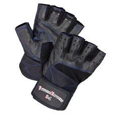 "Entrenamiento guantes con rodillera S-XXL fitness guantes ""Deluxe Blue"" nuevo cuero"