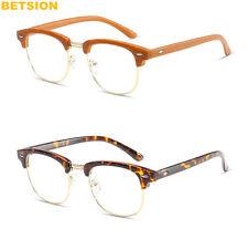 Vintage Metal Half Rimless Eyeglass Frames Men's Women Rx able Glasses eyewear