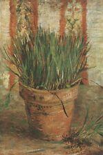 Vase With Chives Vincent Van Gogh VG334 Repro Art Print A4 A3 A2 A1