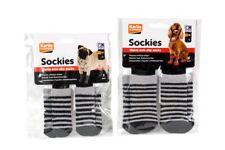 Calze antiscivolo per cani - set da 4 calzini a righe - disponibili in 2 taglie
