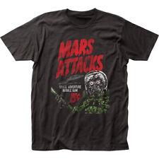 Mars Attacks Space Adventure T Shirt Mens Licensed Movie UFO Aliens Tee Black
