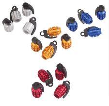 Grenade Metal Aluminum Tire Valve Caps Bike Universal Car Motorcycle ATV I VS01