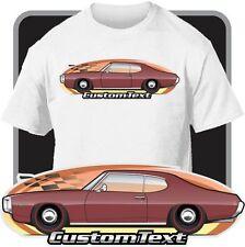 Custom Car Art T-shirt 69 1969 Pontiac Le Mans coupe S hardtop 400 H.O. 350 428