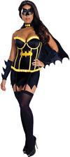 BATMAN SUPERHEROES & VILLAINS WOMENS COSTUMES BATGIRL DELUXE (MULTIPLE OPTIONS)
