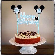 Personalizzati Baby Mickey Minnie Mouse torta Bunting Banner Topper Decorazione