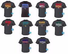 New NFL Men's Cover 3 Triple Peak Retro Vintage T-Shirt