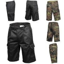 MFH BW Pantalones Bermuda Cortos Pantalón de Campo Bundeswehr camuflaje negro
