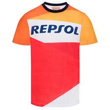 Repsol Racing Honda MotoGP 2018 Team da uomo T-shirt Tee Orange Marquez Pedrosa &