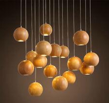 Global Wooden Loft LED Chandelier Ceiling Pendant Lamps Bar  Home Decoration Yc
