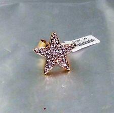Glitzernder Sternen Ring Gold mit Glitzernden Steinen besetzt variabel