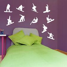 Snowboarding Snow Jumps Tricks Sports Matt Wall & Window Stickers Decal Kids A11
