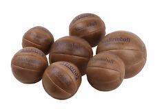TRENAS Medizinball aus Leder 1 2 3 4 5 kg + 800 + 1500 Gramm Ledermedizinball