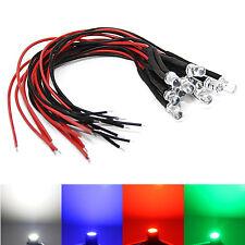 12 Volt LED mit Vorwiderstand weiß blau rot grün Modellbau Kabel 5050 3528 12V
