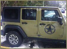 "(2) Distressed Army Star decals fits Jeep Vinyl  graphic door cj hood 2-12""s"