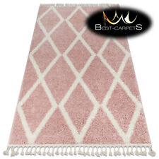 "Amazing Modern shaggy RUGS ""BERBER"" Troik pink white etno oriental Best Quality"