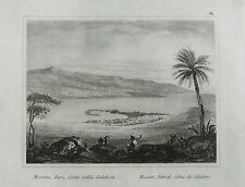 1835:MESSINA.STRETTO,FARO.CAPO PELORO.COSTE CALABRIA.SICILIA. ETNA.AUDOT.ACCIAIO