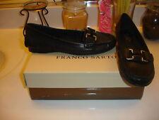 Franco Sarto Black Leather Kipper 7  Nice! Comfort! $89
