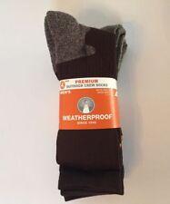 Weatherproof Men's Crew Socks 4-pack various colors