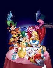 Alicia en el país de las Maravillas sin diálogo película de Disney película A4 A3 Impresión de Arte Cartel Cine