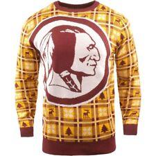 NFL UGLY Sweater Washington Redskins Pullover Christmas Big Logo Football 18