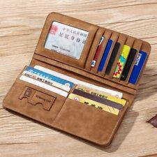 Wallet for Men Many Credit Cards Holder Billfold PU Dull Polish Man Money Clip