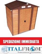 Box Casetta Italfrom Casette Rimessa Ripostiglio Garage per Giardino Lamiera Zin