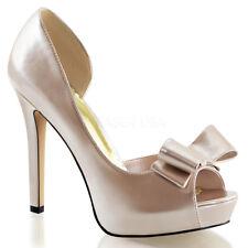 Fabulicious LUMINA-32 Women's Champagne Patent Open Toe Hidden Platform Sandals