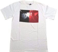 Element VISIONARY White Black Red Discounted Skateboarding Men's T-Shirt